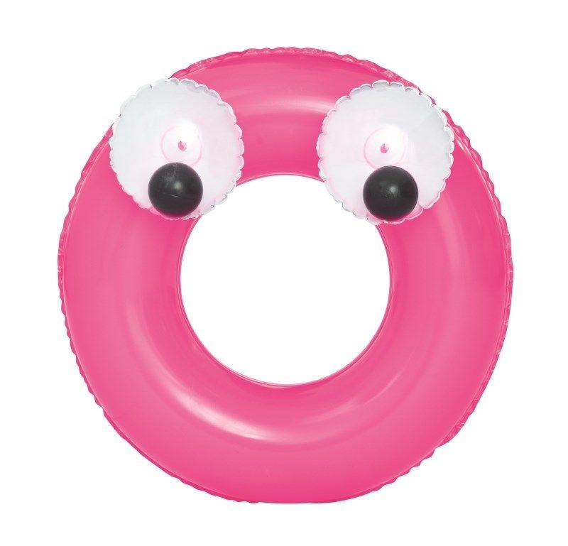 Dětský nafukovací kruh Bestway Big Eyes růžový 39234