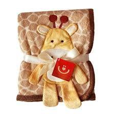 Dětská deka - 3D aplikace hnědá žirafka Bobas