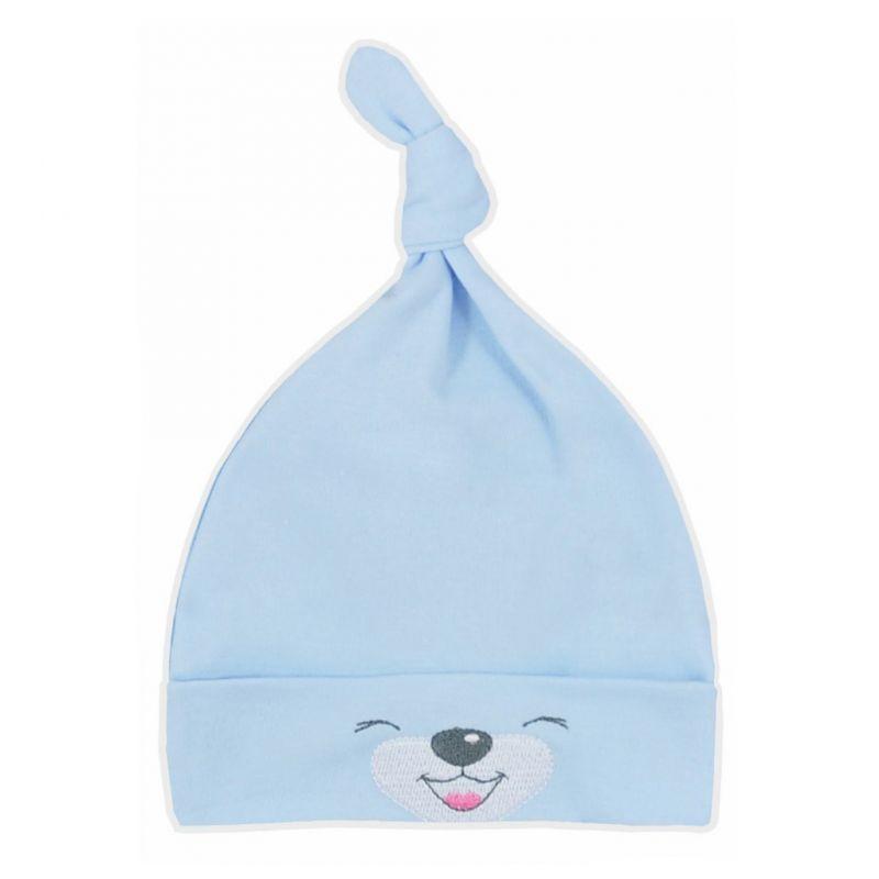 Bavlněná kojenecká čepička Bobas Fashion Lucky modrá 34525