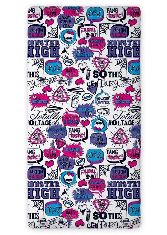 Bavlněné prostěradlo Monster High + povlak na polštář Monster High ZDARMA Faro