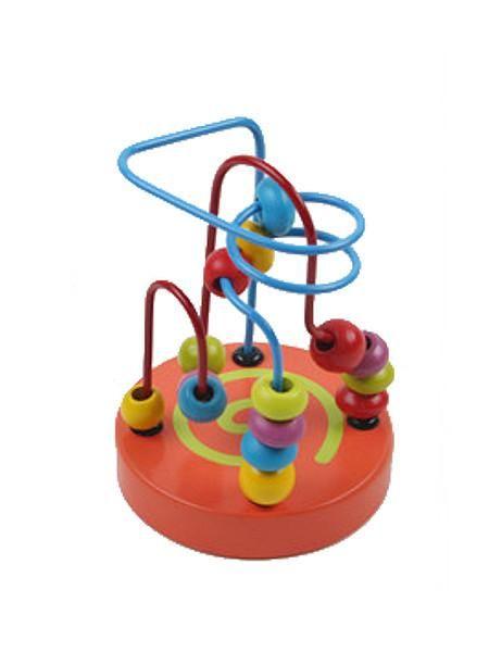 Dřevěná edukační hračka Baby Mix labyrint oranžová