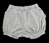 Dětské bavlněné kalhotky, kraťásky s mašlí Mamatti Bubble Boo - šedé, vel. 104