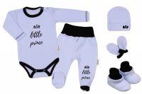 Baby Nellys 5-ti dílná soupravička do porodnice Little Princ - modrá