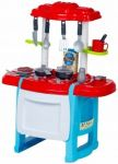 Wanyida Toys Dětská kuchyňka s příslušenstvím - červená/modrá