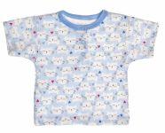 MBaby Bavlněné Polo tričko s krátkým rukávem Kočičky vel. 68 - modré