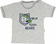 Mamatti Bavlněné tričko Medvídek proužek - krátký rukáv, roz. 74