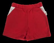 Kojenecké bavlněné kalhotky, kraťásky Mamatti Pirát - červené, vel. 80