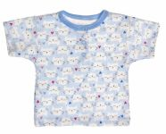MBaby Bavlněné Polo tričko s krátkým rukávem Kočičky vel. 80 - modré