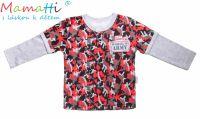 Bavlněné tričko/polo Mamatti - ARMY