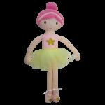 Hadrová panenka Tulilo Balerína, 70 cm - růžová