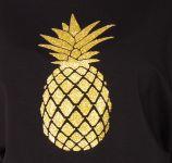 Be MaaMaa Těhotenská mikina, triko Ananas - černé - XL