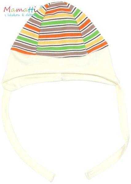 Čepička na zavazování Mamatti - CAR - barevné proužky