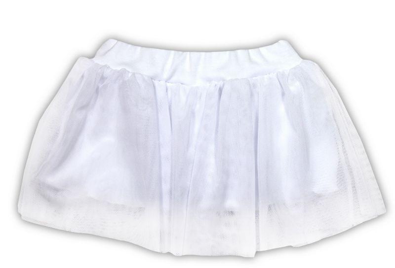 Tutu suknička NICOL KVĚTINKA - bílá