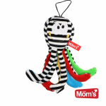 Hencz Toys Edukační hračka Chobotnička s rolničkou - bílo/černá