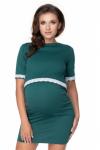 Be MaaMaa Těhotenské, kojící šaty, krátký rukáv - zelená, vel. L/XL