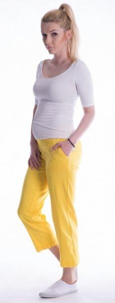 Be MaaMaa Těhotenské 7/8 bederní kalhoty - žluté, vel. M