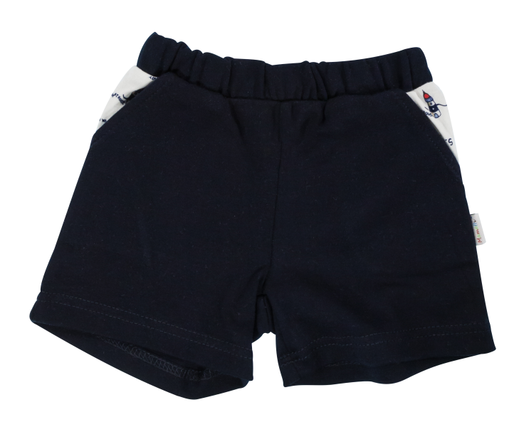 Kojenecké bavlněné kalhotky, kraťásky Mamatti Maják - granátové, vel. 104