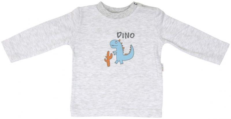 Bavlněná halenka Mamatti DINO - dlouhý rukáv