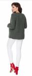Be MaaMaa Těhotenský svetřík, kardigan na zavazování, khaki