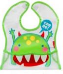 BOBO BABY Dětská zástěrka, bryndák Příšerka - zelená