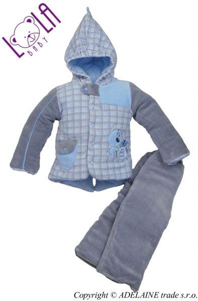 LOLA BABY Oteplený komplet - bundička a kalhoty DOGI