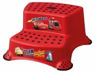 Keeeper Stolička - schůdky s protiskluzovou funkcí - Cars II - červené