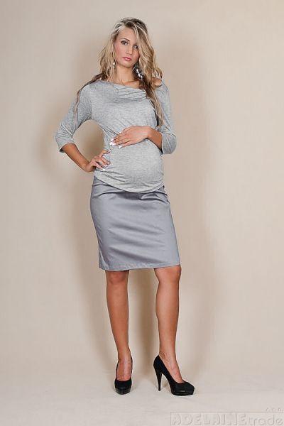Be MaaMaa Těhotenské sukně Melanie - šedý popílek
