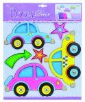 Decor Room Dětské prostorové samolepky na zeď - auta