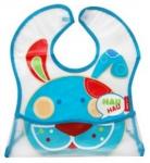BOBO BABY Dětská zástěrka, bryndák Pejsek - modrý
