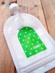 Domky Klasická plnitelná kapsička, 140 ml - puntíky v zelené - 1 ks