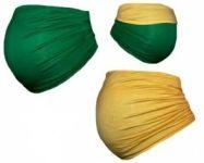 Be MaaMaa Těhotenský pás DUO - zelená se žlutou, vel. L