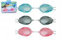 Plavecké brýle asst 3 druhy na kartě 20x15x4cm 8+