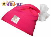 Bavlněná čepička Tutu květinka Baby Nellys ® - malinová, 48-52