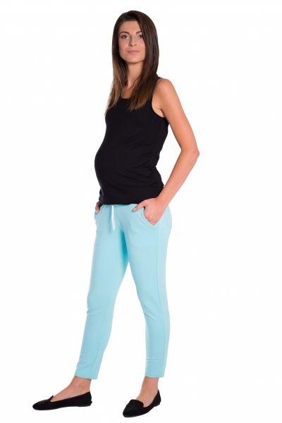 Be MaaMaa Těhotenské 3/4 kalhoty s odparátelným pásem - mátové, vel. M