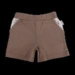 Kojenecké bavlněné kalhotky, kraťásky Mamatti Tlapka - hnědé, vel. 104