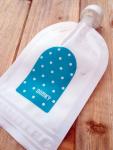 Domky Klasická plnitelná kapsička, 140 ml - puntíky v modré - 1 ks