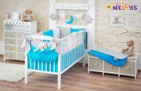 Baby Nellys 14-ti dílný set mega sada Be LOVE - Tyrkys/šedá - 135x100