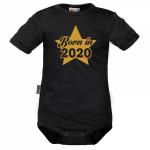 DEJNA Body krátký rukáv Born in 2020 - černé, vel. 80