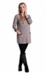 Be MaaMaa Tunika, šaty 3/4 rukáv - béžová, vel. L/XL