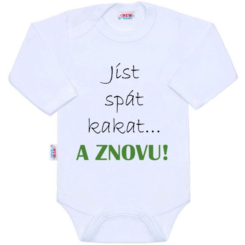 Body s potiskem New Baby jíst spát kakat... A ZNOVU! 39286