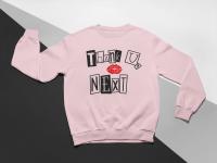 KIDSBEE Stylová dětská dívčí mikina Thank You Next - růžová