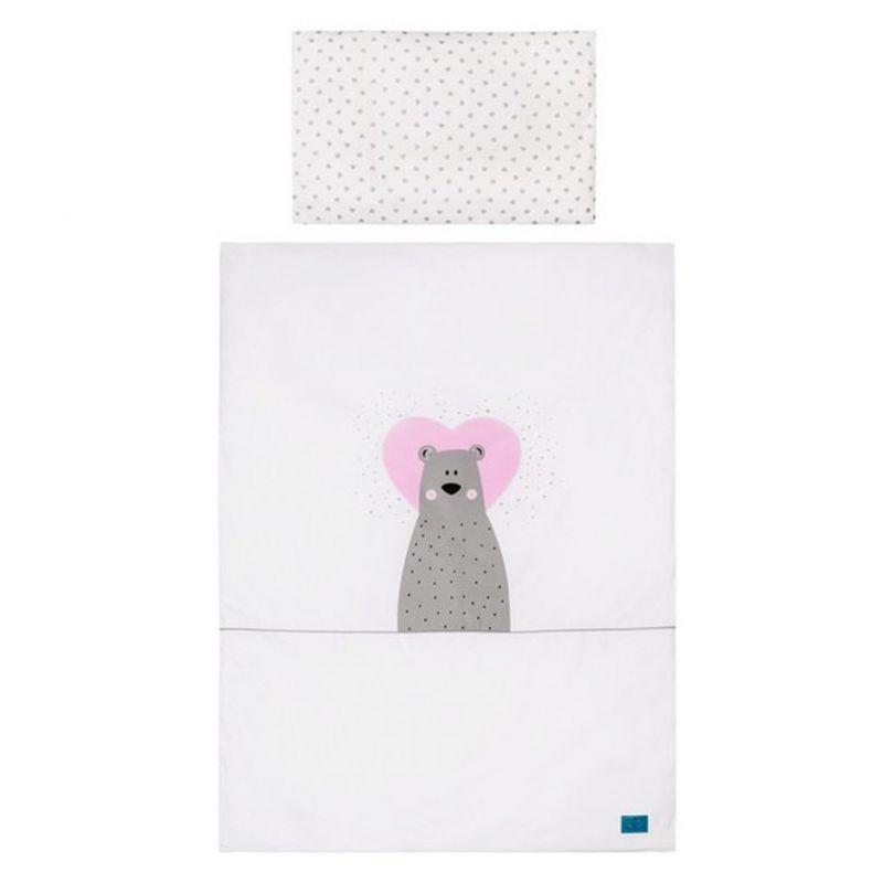3-dílné ložní povlečení Belisima Bear in love 90/120 růžové 34042