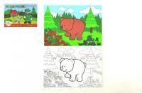 Omalovánky Moje první zvířátka lesní 8 listů 21x14,5cm MPLZ