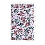 Nepromokavá podložka Akuku froté 70x50 - bílá s růžovými sovami 22625