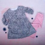 K-Baby 2 dílná sada - šaty + legíny, Gepardík, vel. 80