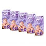 MEGAPACK Dětské jednorázové pleny New Love Premium comfort 3 MIDI 4-9 kg 5x48 ks 40674