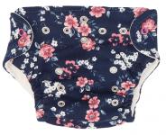 Mamatti Látková plenka EKO sada - kalhotky + 2 x plenka, vel. 5-14 kg, Flowers