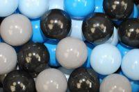 DRS Náhradní balónky do bazénu - 100ks, mix, černá, sv. modrá, modrá, šedá