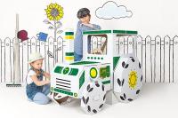 Dětský kartonový traktor Tektorado