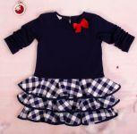K-Baby Dětské šatičky Kárko mašlička, červená, vel. 98
